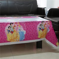 Wholesale cm kids children movie princess theme party disposable tableware girls birthday baby shower disposable tablecloth