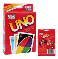 Wholesale Newest Entertainment Card Games UNO cards Fun Poker Playing Cards Family Funny Board Games Standard DHL sets free DHL