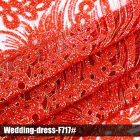 Wholesale Fashion elegant lace glitter sequin fabrics new design high quality multi color wedding dress for party