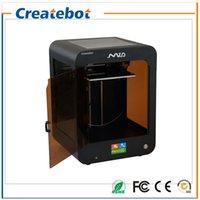 Double filament France-High-precision Createbot Mid 3D imprimante kit complet Extrudeuse double Assemblé Imprimante à écran tactile en 3D 1 Roll Filament 8 Go Carte SD