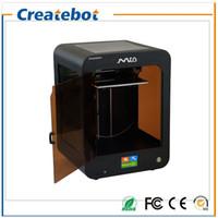 Acheter Double filament-Kit d'imprimante 3D de Createbot Mid-haute précision complet Ensemble double extrudeuse Écran tactile Imprimante 3D 1 Filtre à rouleaux Carte SD 8 Go