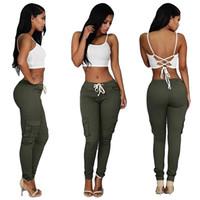 Precio de Vaqueros de las muchachas populares-Recomiende 4 colores popular estilo americano mujeres sexy pantalones vaqueros apretados pierna lateral bolsillo niñas Capris Fitness más tamaño