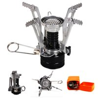 Wholesale Outdoor Gear Camping Stove Mini Lightweight Portable Butane Gas Stove with Ceramic Piezoelectric Ignition