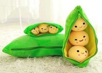 Wholesale 2016 new listing Pea beans horn pillow tv movie character animal soft plant Anime Comics toy lovely Warm Video Games toy years gri