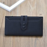 La nouvelle marque de mode hasp simple PU cuir femmes longs portefeuilles de haute qualité double couche embrayage sac à glissière monnaie bourse # 68083