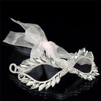 beautiful female faces - Silver Female Rhinestones Masquerade Mardi Gras Party Elegant Beautiful Mask Red Ribbon Length cm Width cm