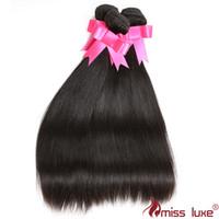 Wholesale Brazilian Human Hair Bundles Straight Hair Weaves Bundles Unprocessed Brazilian Malaysian Peruvian Indian Virgin Hair Inch