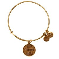 Cheap original Alex and Ani Live A Happy Life Charm Bangle Christmas pop jewelry adjustable shrinkable brass bracelet Jewelry factory