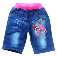 Wholesale New Summer Jeans for Girs Trolls Denim shorts Children Clothing Blue Canvas Pantalones Kids Casual Les jean shorts