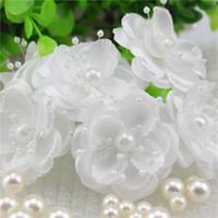 artificial flowes - Pearl stamens bridal headdress flower Mini Silk Artificial Rose Flowers Bouquet Scrapbooking Flower Leaves Stamen Wedding flowes