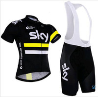 Wholesale S XL Men cycling jersey team sky cycling clothing maillot ciclismo Short Sleeves Ropa ciclismo hombre MTB bike jersey BIB Shorts