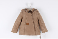 Wholesale Baby boys coat New boys coat Autumn Winter front partition hooded coat Children s coat soft comfy fashion kids coat sizes for M T