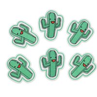 accessories for bags - Diy cactus patches for clothing iron embroidered patch applique iron on patches sewing accessories badge stickers on clothes bag DZ