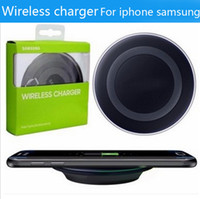 apple note pads - 2017 Universal Qi Wireless Charger not fast Charging For Samsung Note Galaxy S6 s7 Edge mobile pad with package usb cable can with logo