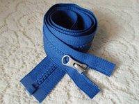 Wholesale Single open zipper ykk resin cm placket blue zipper resin coat Jacket dress white brass zipper head