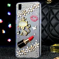 Silicone beautiful bling - Luxury Sexy Beautiful Mobile Phone Rhinestone Case For Iphone S S plus Phone Bling Bling Bling Shell D Crystal Diamond Shell