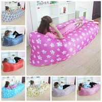 Wholesale Outdoor D Oxford Fabric Fast Inflatable Sleeping Bag Portable Outdoor Air Sofa Portable Sleeping Hangout Lounger Lazy Sleeping Bed F528