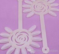 Wholesale HOT SALE SET Natural Sunflower Nail Polish Display Sticks with Ring Nail Art Display Color Chart Ring Holder Drop shipping