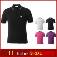 Wholesale Embroidered Solid Cotton Men Stone Short Sleeve Island POLO Shirt Summer Wear Lapel