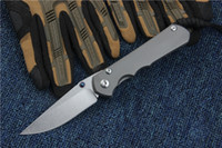 Wholesale Sebenza Titanium Handle S35VN steel blade Fold Knife EDC Pocket Knives With Original Paper Box Package Frame Lock
