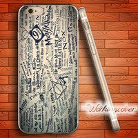 Fundas Harry Potter Collage Soft Clear TPU Funda para iPhone 7 6 6S Plus 5S SE 5 5C 4S Cubierta de silicona para 4 casos.