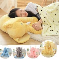 Wholesale Hot sale CM CM Elephant Soft Plush Pillow Animal Stuffed Dolls Toys Cartoon Sofa Bedding Throw Pillow Cushions gray pink yellow blue