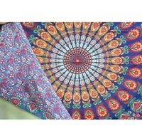 Wholesale LNL Indian Mandala Tapestry Hippie Wall Hanging Bohemian Bedspread Dorm Decor