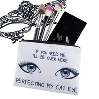 alligator eyes - 2017 Lovely Square Makeup bag Cosmetic case Pencil Bags Cat Eyes Handbags zipper pouch canvas Small organizer toiletry For Women