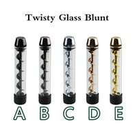 Wholesale Twisty Glass Blunt Second Edition Dry Herb Vaporizer Pipe Grinder Filter System Accessories Herbal Tool Twist me pipe pipe Smoking Pen