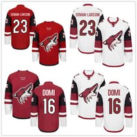 away jersey color - Arizona Coyotes Max Domi Oliver Ekman Larsson Ekman Larsson Team Red Color Away White Ice Hockey Jerseys