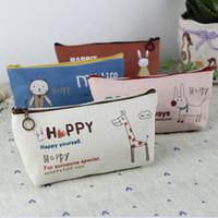 art pencil cases - pen box pouch bag bags school pencil vintage stationery cases large South Korea canvas cute cheap art supplies stationery