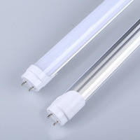 Wholesale 30pcs T8 LED tube light W ft m W Fluorescent lamp replacement milky transparent cover AC85 V PF0 G13 tube light