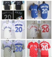 Wholesale Hot Majestic Official Cool Base MLb Stitched th Toronto Blue Jays Baseba20 Josh Donaldson White BLue Red Gray Black Jerseys Mix Order