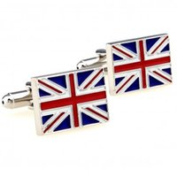 Wholesale Fashion Jewelry Tie Clips Cufflinks UK Flag Cuff Link Pairs Promotion promotion portable