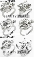 band balls - 10 pieces KGP Love Ring Cage Mixed Lotus Butterfly Heart Rose Ball Fish Cages Ring Lockets