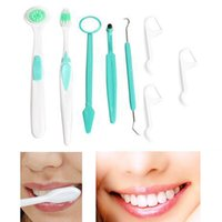 Wholesale 8 Piece Oral clean tools Dental Care Tooth Brush oral hygiene Oral care dental hygiene Kit