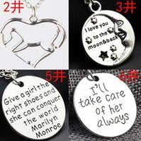Wholesale Love lettering family pendant Europe and the United States English necklace