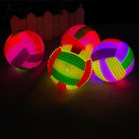 2-4 Years bb massage - 7 cm light volleyball massage ball band whistle BB called elastic ball vent ball toy stall selling
