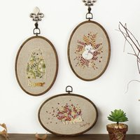 Wholesale Hand embroidery DIY kits Chinese handicrafts make creative gift Cloth art european style solid material package Literary Home decoration