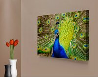 One Panel Digital printing Modern Peacock Photo Canvas Painting Home Decor Canvas Wall Art Picture Digital Art Print for Living Room