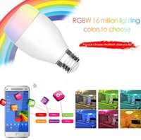 Wholesale Smart LED Light Bulb Wi Fi Bulb Dimmable E27 Tunable White W Equivalent Remote Control And Smartphone Andriod IOS Iphone Control AC100 V
