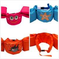 Wholesale Kids Puddle Jumper Basic Life Jacket Comfortable Design Safety Life Jacket Pink Smile Blue Starfish Orange Shark with Adjustable Strap