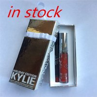 Wholesale 2016 Hot HOLIDAY EDITION Kylie Cosmetics By Kylie Jenner Merry Vixen Matte Lip Kit Ornament Lipstick kit DHL