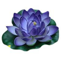 beauty scenery - Purple water lily Simulation lotus water scenery Sleeping Beauty mini mall cm lotus decoration artificial flowers