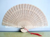 Wholesale Sandalwood Fans Chinese wood Folding Fans with a Pleasant Smell Beach Garden Outdoor Wedding Favors