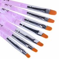 Wholesale Free DHL HNM Nail Art Brush Pens UV Gel Nail Polish Painting Drawing Brushes set Manicure Tools Set Kit