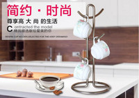 Wholesale Simple tree shaped red wine glass holder cup holder tea mug holder creative finishing incorporated coffee cup holder rack
