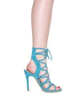 aqua heels - Zandina Women s Handmade Fashion Shoes Cut out Slingback Open toe Sexy Summer High Heel Party Prom Sandals Aqua