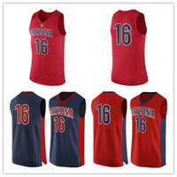 arizona wildcats college - NO Arizona Wildcats Men College Basketball Jersey embroidery UA Athletic Outdoor Apparel Mens Sport Jerseys Size S XL