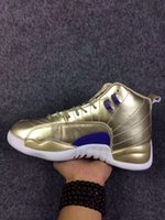 band cut - High Quality Retro gold Men Basketball Shoes s golden Flu Game Sports Shoes sneakers trainers With Box